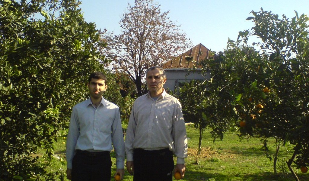 A picture of me and my father (Mirepesht village)